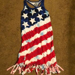 Justice girls flag coverup, sz 12
